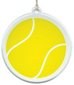 Acrylic Suncatcher With Tennis Ball Design