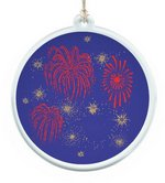 Sun Catcher in Acrylic With Fireworks Design Ornament
