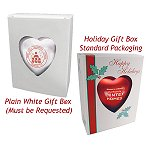 Red Heart Shape Plastic Shatterproof Ornament