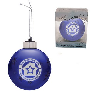 Custom Christmas Ornaments - Light-Up Glass Ornament