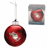 Red  Custom Christmas Ornaments - Light-Up Glass Ornament