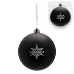 Custom Christmas Ornament - Shatterproof - Black