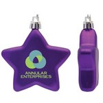 Flat Star Shape Shatter Resistant Purple Christmas Ornament