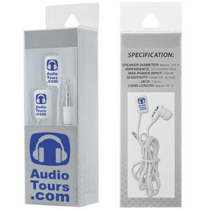 Earbuds in Clear Presentation Box