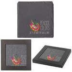 Square Slate Coaster with your logo company imprint