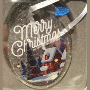 Hammered Glass Ornament