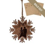 Wood Ornament- Snowflake