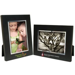 4 x 6 Black Wood Frame w/Silver Bevel