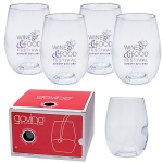 Govino® 16oz Wine Glass with Custom Imprint - 4 Pack Boxed