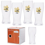 Govino®  Beer Glass with Custom Imprint -16oz Boxed Set of 4