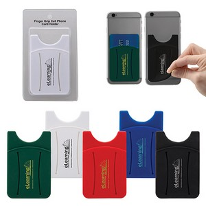 Finger Grip Cell Phone Card Holder w/Packaging