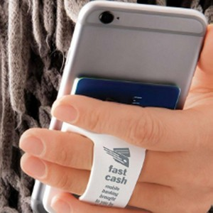 Finger Grip Cell Phone Card Holder
