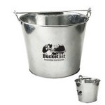 5 Qt Galvanized Ice Bucket w/Bottle Opener