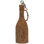 Cork Wine Bottle Keytag
