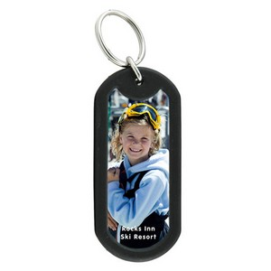 Photo Dog Tag Keytag