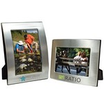 5 x 7 Brushed Silver Curved Frame