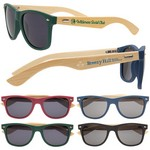 Wooden Bamboo Sunglasses with logo imprint