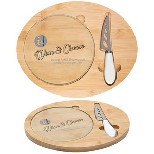 Three Piece Cheese Board Set with Logo