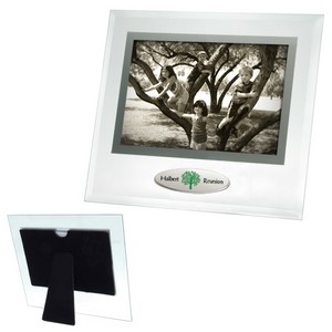 6 x 4 Beveled Glass Frame w/Metal Accent