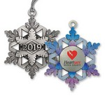 2019 Pewter Gallery Print Snowflake Ornament