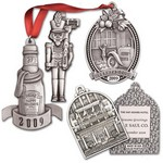 Custom Pewter Full Size Ornament with 3 Dimensional Tooling