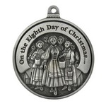 Twelve Days of Christmas Full Size Ornament (Day 8 - Eight Maids-a-Milking)