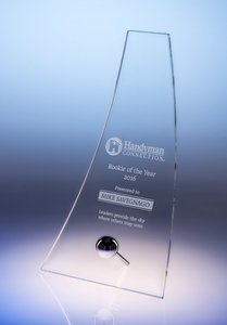 Glide Bent Glass Award - Large