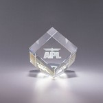 Plaza Optic Crystal Paperweight