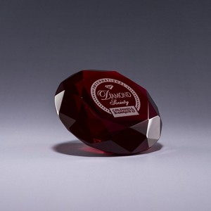Diamond Paperweight / Red
