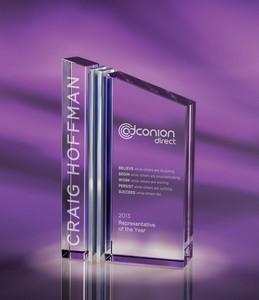 Trans Optical Crystal and Chrome Award