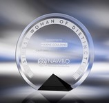 Cyrk Bevelled Crystal Award / Black