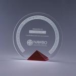 Cyrk Bevelled Crystal Award / Red