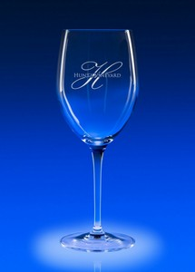 Reflections White Wine Engraved Glass