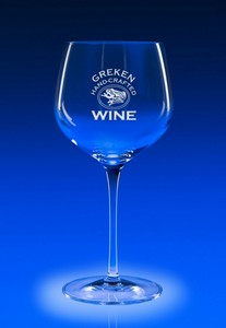 Reflections Stemware Engraved Balloon Wine Glass