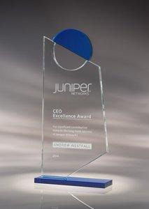 Insight Starphire Crystal Award Blue -  MED
