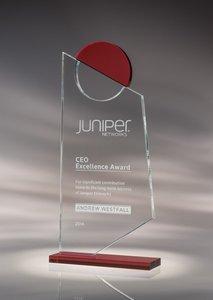 Insight Starphire Crystal Award Red - LG