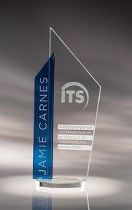 Skape Starphire Crystal Award Blue - SM