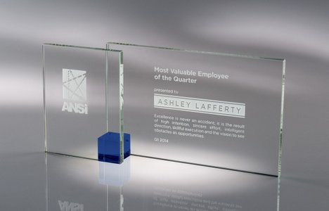 Shadow Glass Award Blue - LG