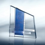Chroma Blue Optical Crystal Award