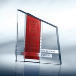 Chroma Red Optical Crystal Award
