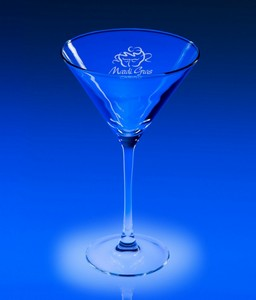10oz. Lyrica Engraved Martini Glass