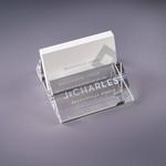 Oblique Crystal Business Card Holder