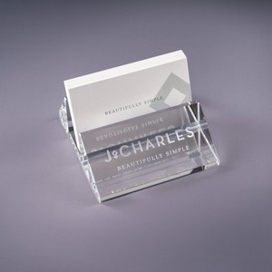 Oblique Crystal Business Card Holder