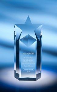 Rising Star Award Crystal Blue Base (award not included)