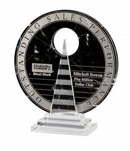 Ionia Black Marble Award on Crystal Base