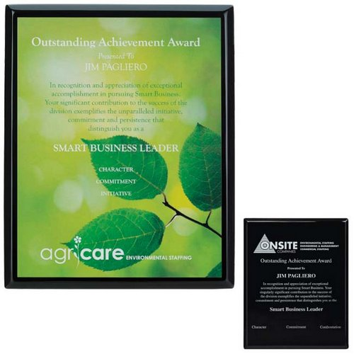 Black Plaque - 8 in.  x 10 in.