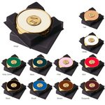 Two Coasters in Deluxe Black Flocked Gift Box