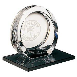 High Tech Crystal Award on Ebonite Base - Small