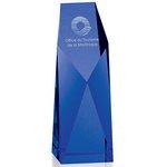 Five-Star Blue Optical Crystal Award