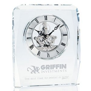 Crystal Skeleton Clock with Visual Moving Parts